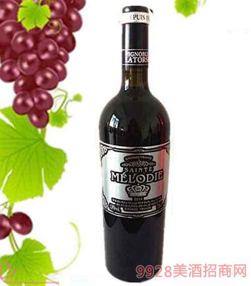 法国圣美罗干红葡萄酒13度750ml