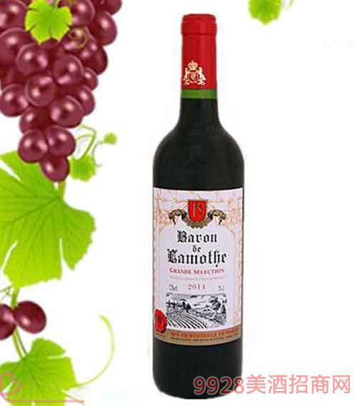 法国拉蒙特男爵干红葡萄酒12度750ml