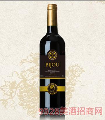 碧爵波尔多橡木桶干红葡萄酒12.5度750ml