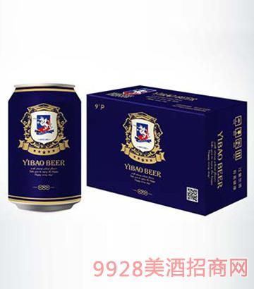 伊堡啤酒纯酿易拉罐啤酒330ml-9°
