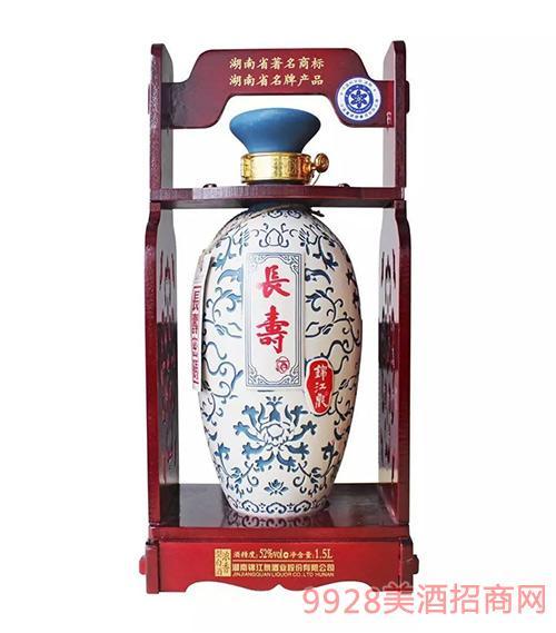锦江泉酒麻阳长寿52度1.5L浓香型白酒