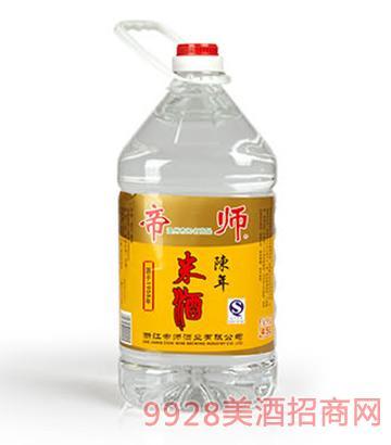 帝师陈年米酒45度4.5Lx4