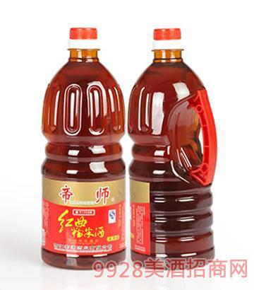 帝师红曲糯米酒15度1.25L