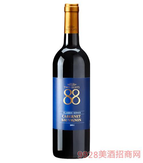 澳大利亚88经典赤霞珠红葡萄酒13.7度750ml