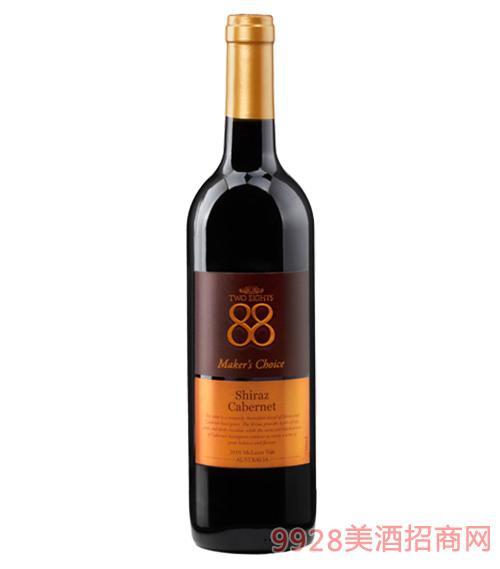 澳大利亚88经典西拉赤霞珠红葡萄酒13.5度750ml