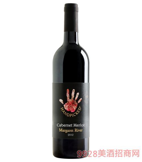 澳大利亚首彩赤霞珠梅洛红葡萄酒(玛格丽特河)13.8度750ml