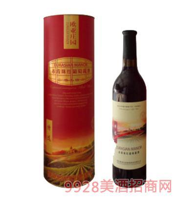歐亞莊園特選級赤霞珠紅葡萄露酒(圓筒)
