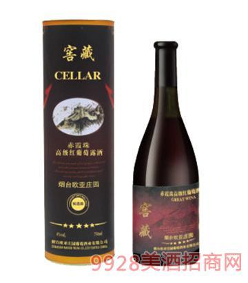 歐亞莊園窖藏赤霞珠紅葡萄露酒(圓桶)