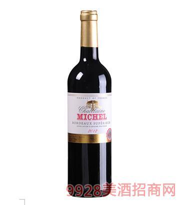 米歇尔庄园超级波尔多干红葡萄酒12.5度750ml