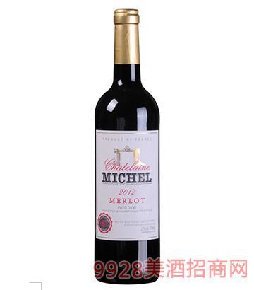 米歇尔庄园美洛干红葡萄酒13度750ml