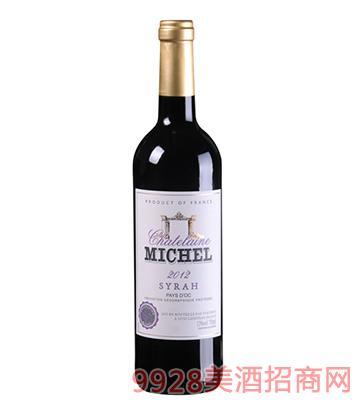 米歇尔庄园西拉干红葡萄酒13度750ml