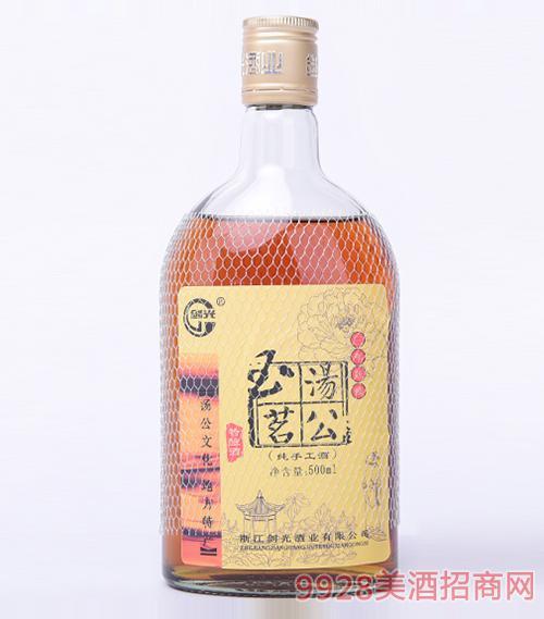浙江汤公玉茗特酿酒三年11度500ml