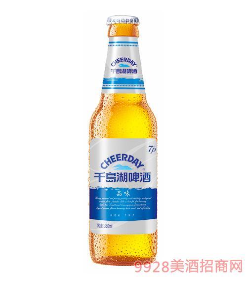 千岛湖啤酒白啤7度330ml品味