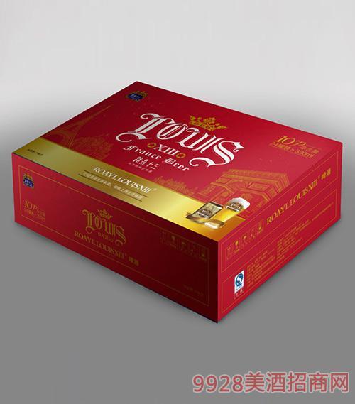 路易十三啤酒红卡黄啤330ml纸箱