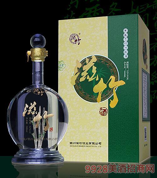 滋竹酒清香型竹汁白酒52度500ml