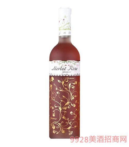 维罗妮卡玫瑰干红葡萄酒13度750ml
