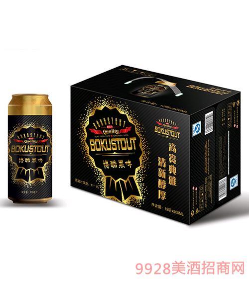 博酷啤酒黑啤9度500mlx12