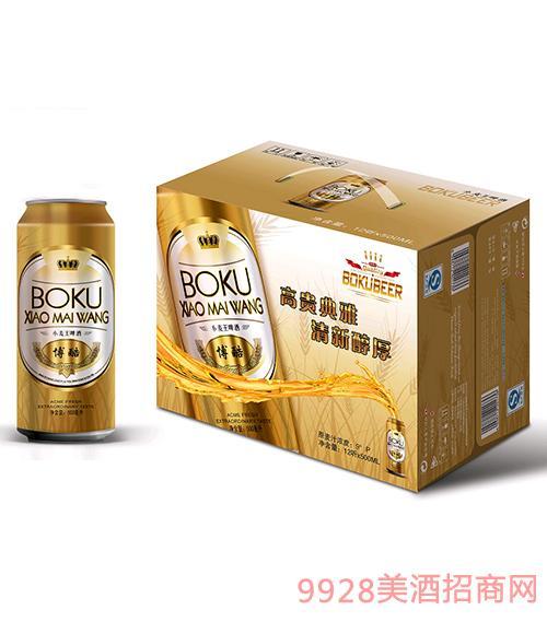 博酷啤酒小麦王9度500mlx12