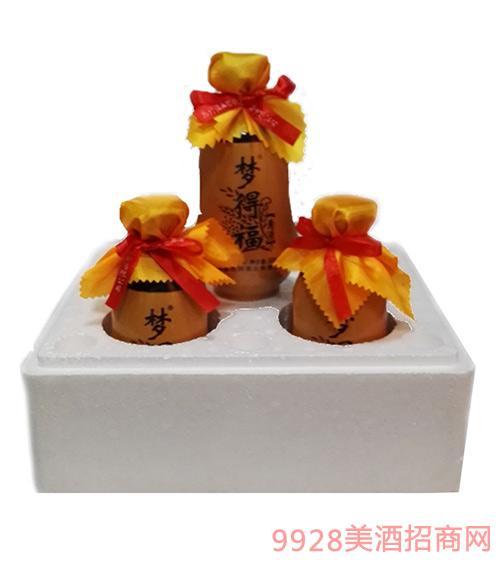 梦得福黄酒500mlx4瓷瓶箱装