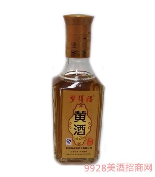 梦得福黄酒半甜型黄酒250mlx8瓶礼箱装