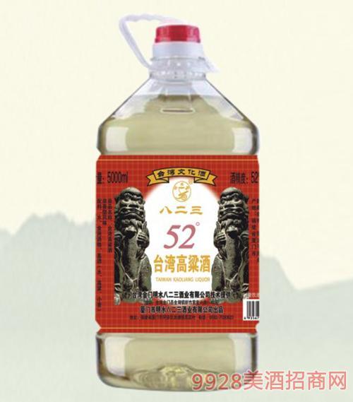 八二三台湾高粱酒桶装52度5L