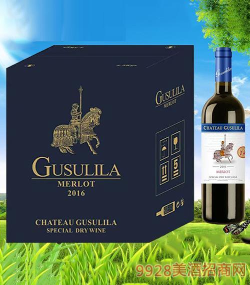 古苏里拉龙骑士干红葡萄酒750ml