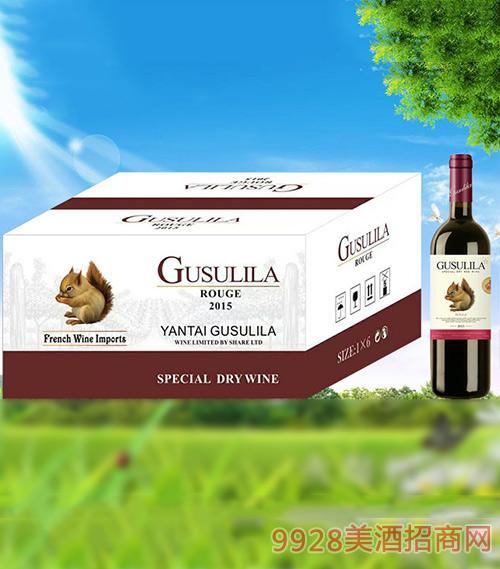 古苏里拉金松鼠干红葡萄酒750ml