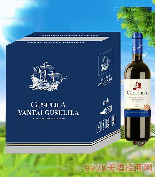 古苏里拉伯爵龙船干红葡萄酒750ml