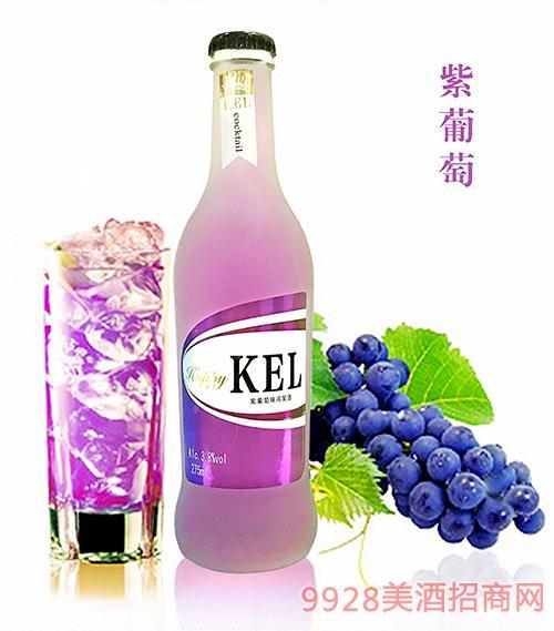 酷儿乐鸡尾酒紫葡萄3.8度275ml