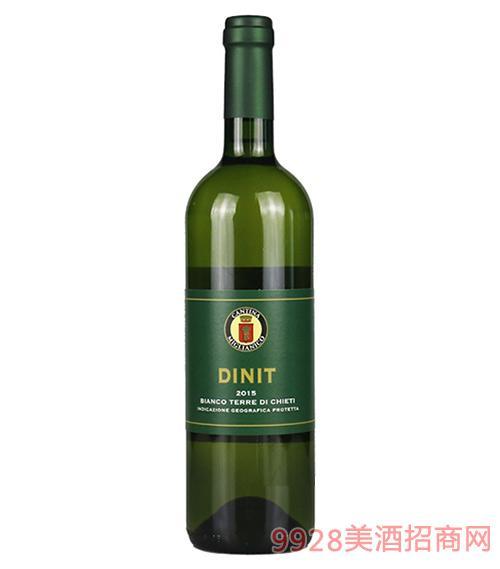 意大利迪尼特干白葡萄酒12.5度750ml