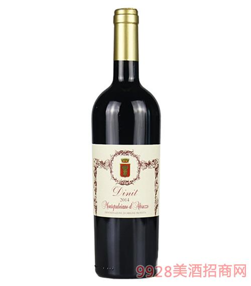 意大利迪尼特蒙帕赛诺干红葡萄酒13度750ml
