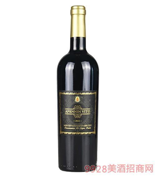 意大利亚平宁维托干红葡萄酒13度750ml