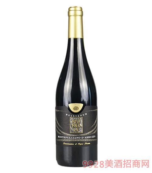 意大利穆雷尔红葡萄酒13度750ml
