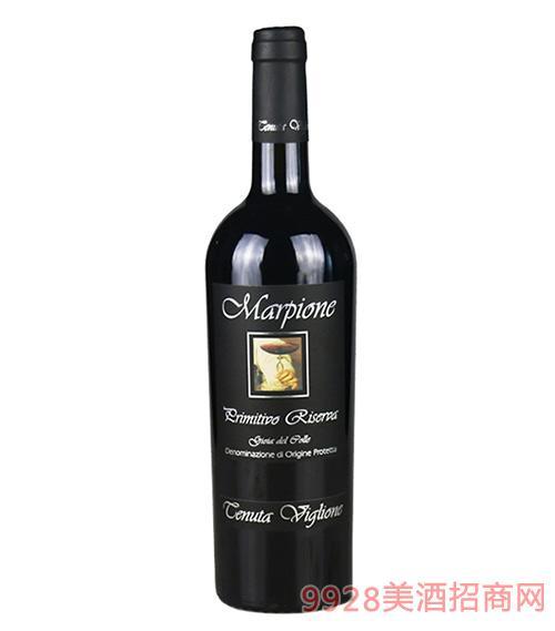 意大利马尔比欧尼红葡萄酒13.5度750ml
