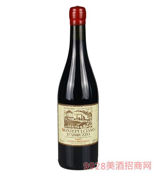 意大利米亚尼可酒庄珍藏红葡萄酒13.5度750ml