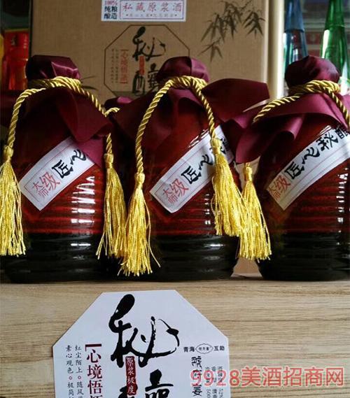 虢府宴青稞酒坛装大师级清香型52度500ml