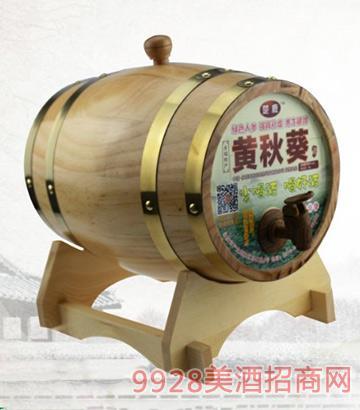 黄秋葵酒46度5L橡木桶装