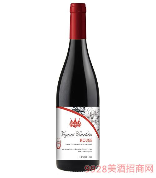 法国薇妮嘉尔干红葡萄酒12度750ml
