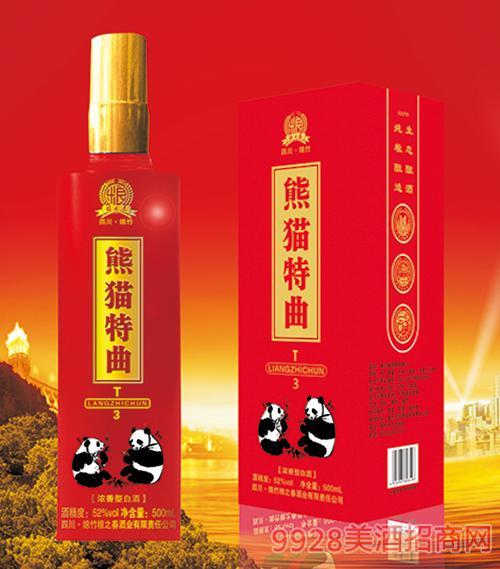 四川熊猫特曲酒T3浓香型45度 52度500ml酒T3浓香型45度 52度500ml