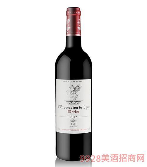 法国印象莱德梅乐红葡萄酒12.5度750ml