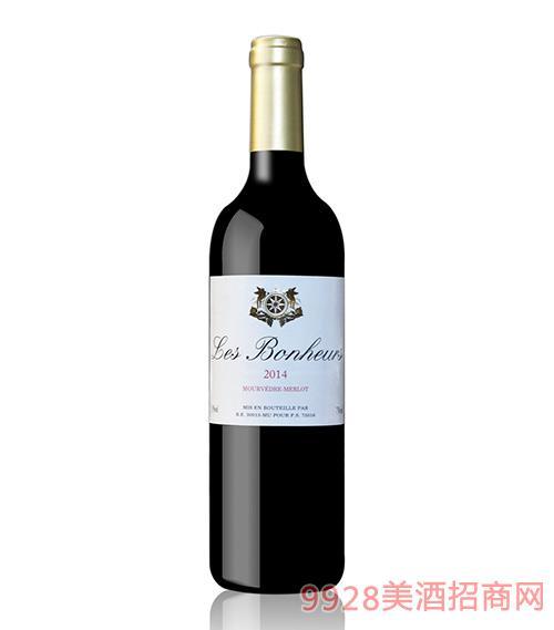 法国喜汇仕慕合怀特美乐红葡萄酒13度750ml