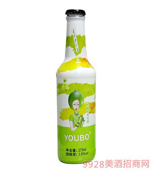 优博鸡尾酒柠檬味3.8度275ml