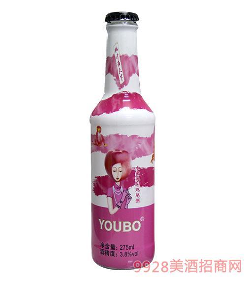 优博鸡尾酒水蜜桃味3.8度275ml