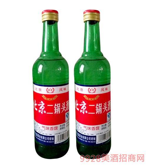 京宏北京二锅头酒绿瓶56度500ml
