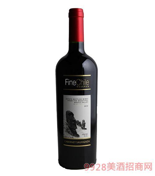 泛芝霖赤霞珠珍藏红葡萄酒14度750ml