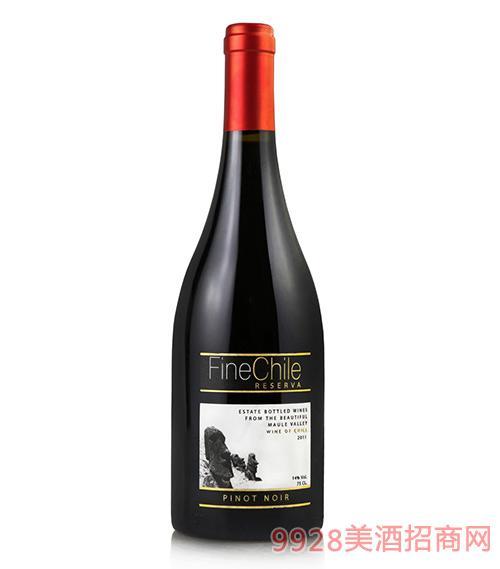 泛芝霖黑皮诺珍藏红葡萄酒14度750ml
