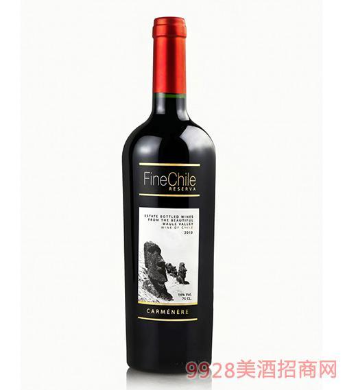 泛芝霖佳美娜珍藏红葡萄酒14度750ml