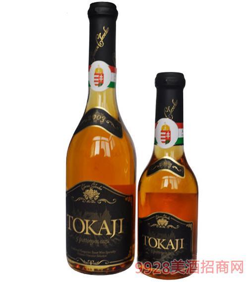 匈牙利产-托卡伊贵腐葡萄酒 五筐葡萄酒酿制500ml