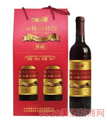 河北怀旧山楂枸杞酒750ml