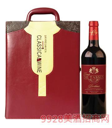 法国唐莎城堡干红葡萄酒750ml